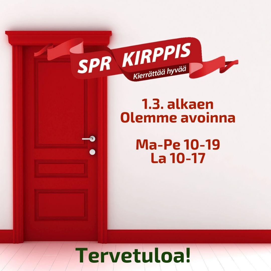 SPR-Kirppis Kokkolan uudet aukioloajat